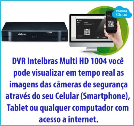 DVR Stand Alone Multi HD Intelbras MHDX-1004 - 4 Canais