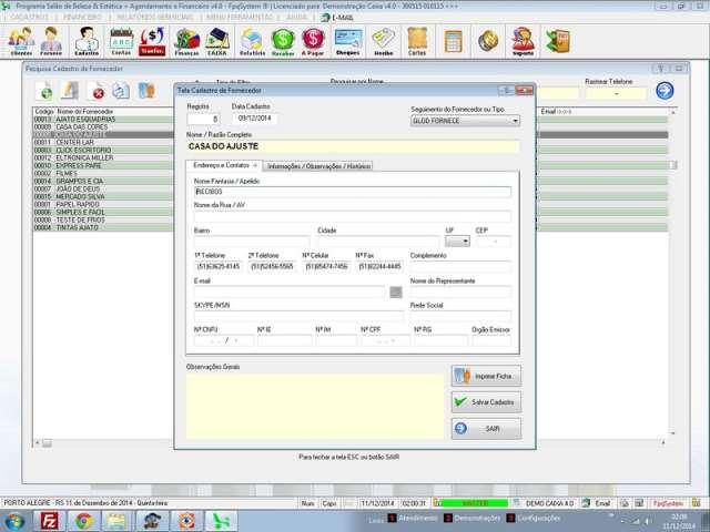 Programa para Livro Caixa com Financeiro Completo v4.0 Plus - FpqSystem