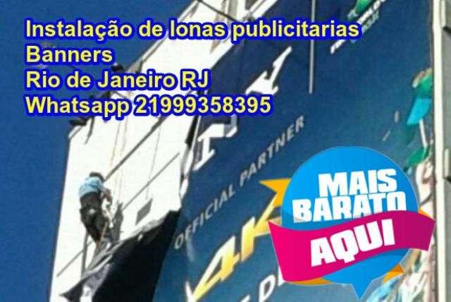 Instalação de banners lonas publicitarias rj rio de janeiro 21999358395