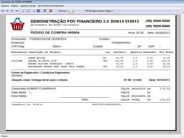 Programa para PDV Frente de Caixa Estoque e Financeiro Completo v2.0 Plus - FpqSystem