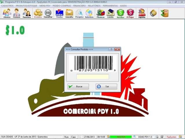 Programa para PDV Frente de Caixa, Estoque e Financeiro v1.0 - FpqSystem