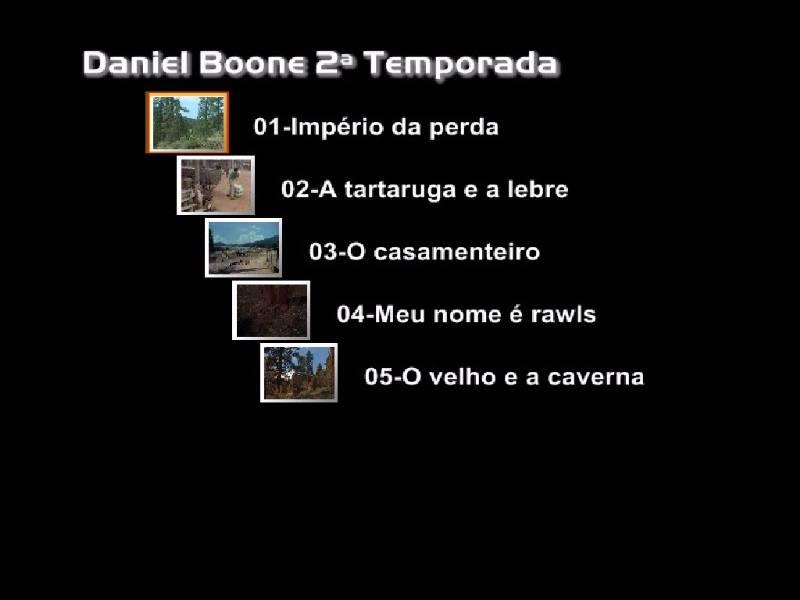 DANIEL BOONE 2ª TEMPORADA DUBLADA FRETE GRÁTIS