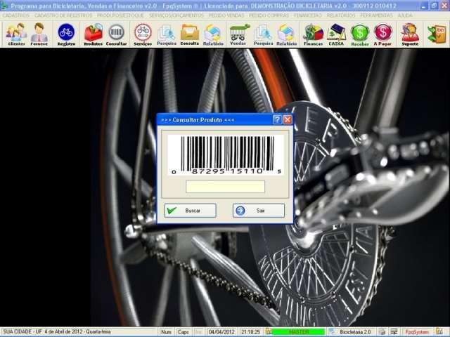 Programa Loja de Bicicletaria Serviços Vendas Estoque Financeiro v2.0 - FpqSystem