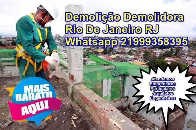 Demolição demolidora mais   barato rj rio de janeiro   Whatsapp (21) 99935-8395