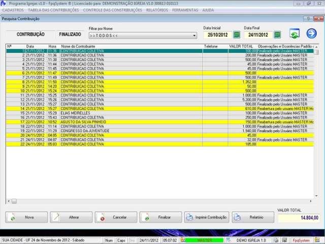 Programa para Controle de Igrejas com Cadastro de Membros v1.0 - FpqSystem