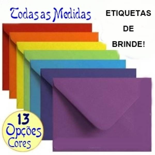 50 Envelopes De Papel Color Plus